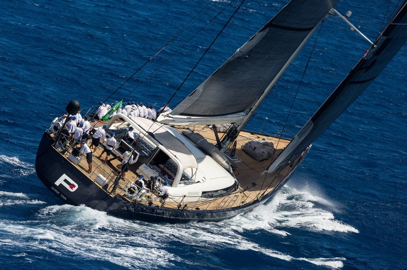 Perini Navi 38m SY P2 is ready to contend for the Perini Navi Trophy at the St Barths Bucket