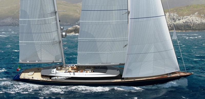 Perini Navi sailing yacht Sybaris 70m