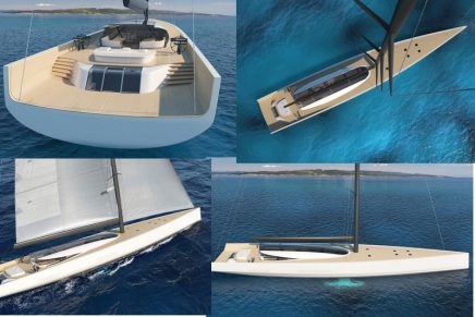 Philippe Briand's revolutionary SY200 is a sailing yacht discharging zero emissions