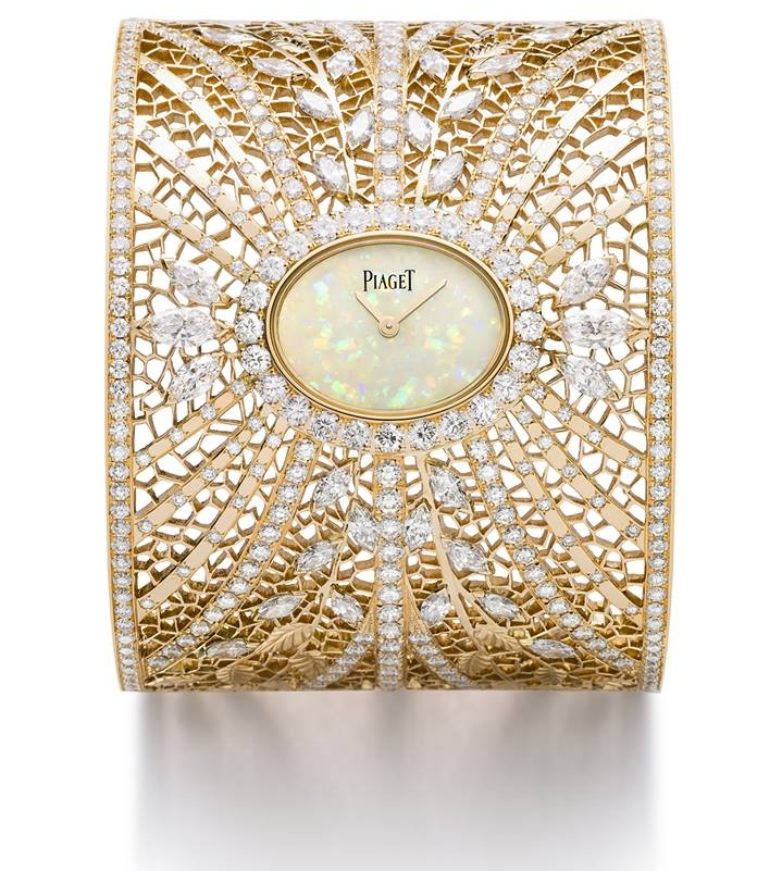 Piaget High Jewellery Lacework on Gold Cuff Watch