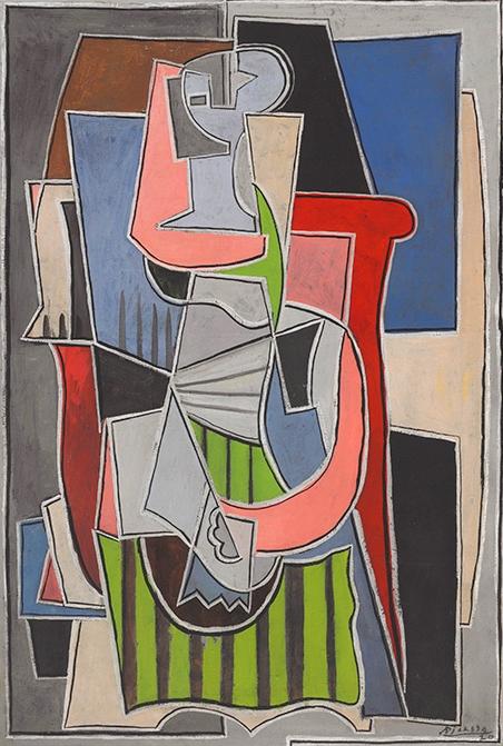 Picasso Femme assise dans un fauteuil at Christie's LA