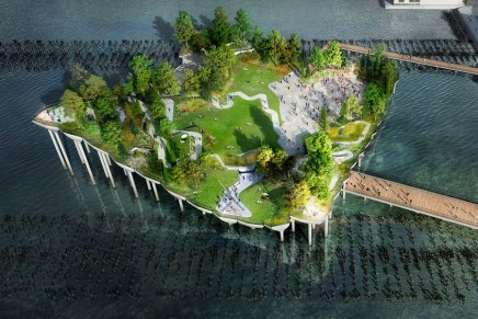 Thomas Heatherwick plans $170m hovering miracle island for New York