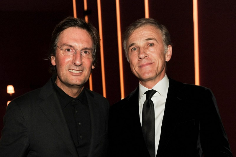 Pietro Beccari and Christophe Waltz - Fendi Studios