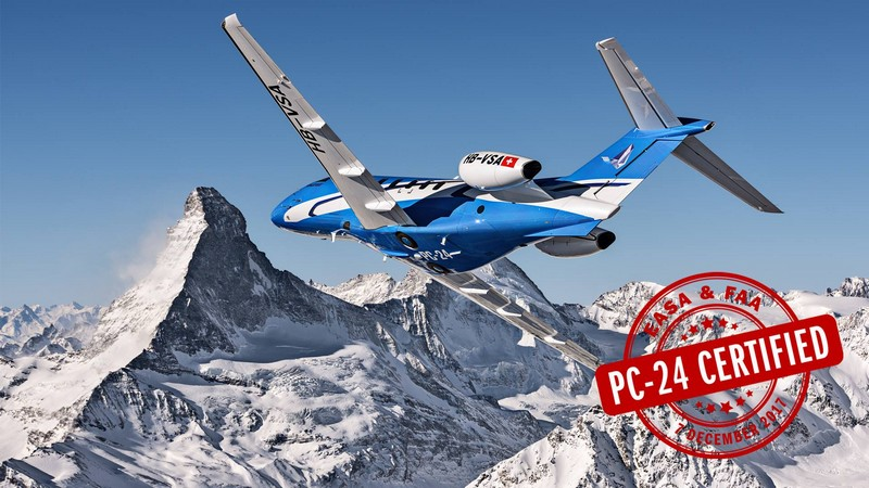 Pilatus Delivers PC-24 Super Versatile Jet to first customer, PlaneSense - 2018-