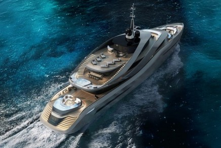 The design house behind more than 100 Ferrari designs reveals its first yacht with Rossinavi