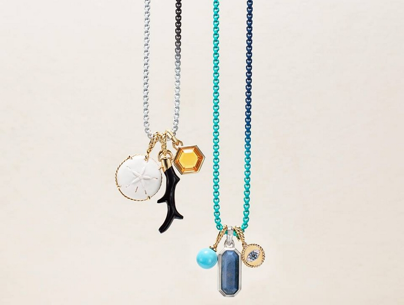 Play with color - Mix amulets with new DY Bel Aire ombré chain