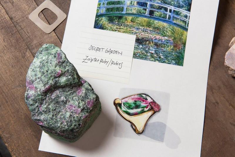 Pomellato Creative Director Vincenzo Castaldo created 50 unique Ritratto collection pieces - The Secret Garden