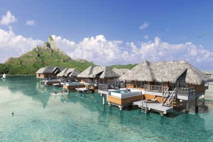 These new luxurious overwater villas with private infinity pools offer a new way to enjoy Bora Bora