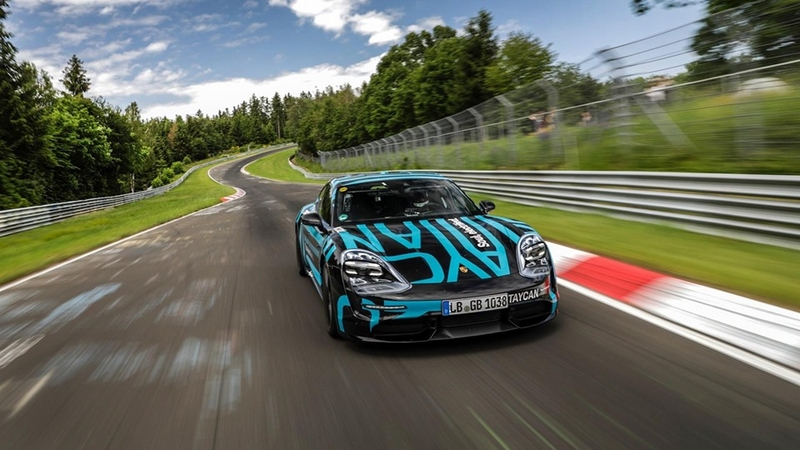 Porsche sets new standards for four-door, all-electric sports cars on the world's most challenging circuit-2019-