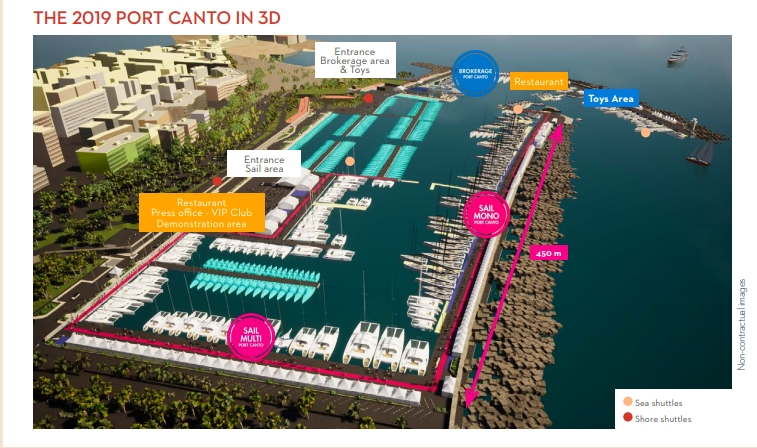 Port Canto in 3D - CannesYachting Festival 2019