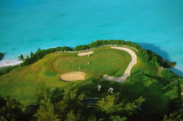 Port Royal Golf Course in Bermuda from above