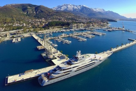 Montenegro's Tivat luxury marina opened the Largest Superyacht Berth in the World