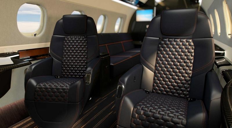 Praetor 600 Bossa Nova Edition Seats