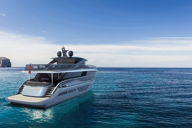 Princess Design Studio x Pininfarina x Olesinski present new X95 motor yacht-2018-from above