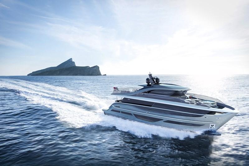 Princess Design Studio x Pininfarina x Olesinski present new X95 motor yacht-2018- rear