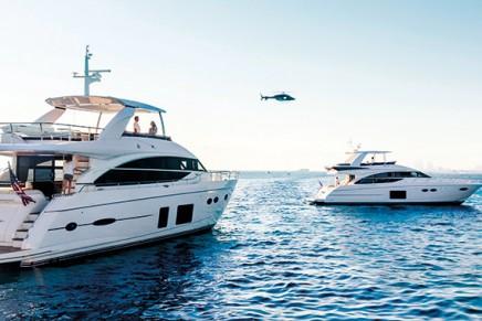 Motorboat novelties on the marine markets. Princess Yachts at boot Düsseldorf 2015