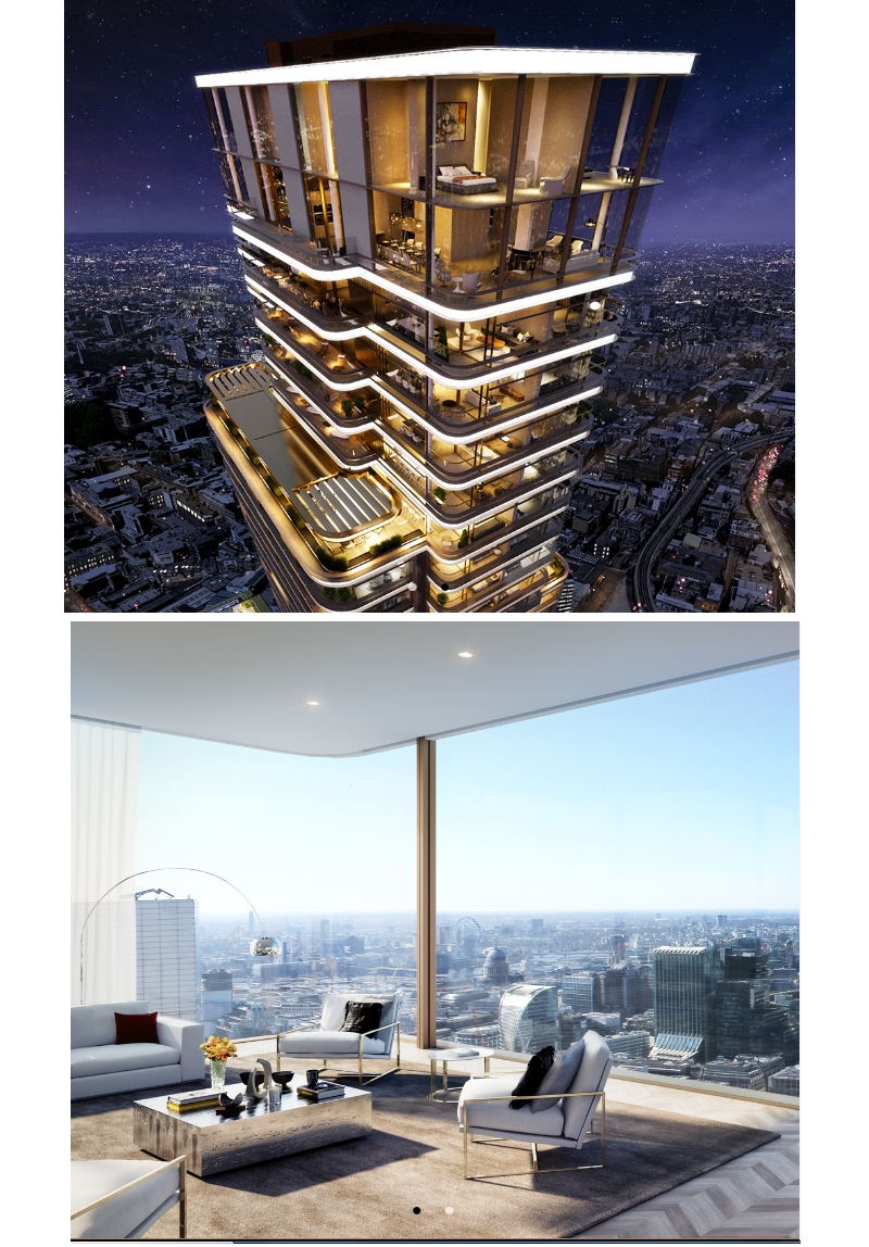 Principal Tower London - PENTHOUSE - TOP OF THE WORLD