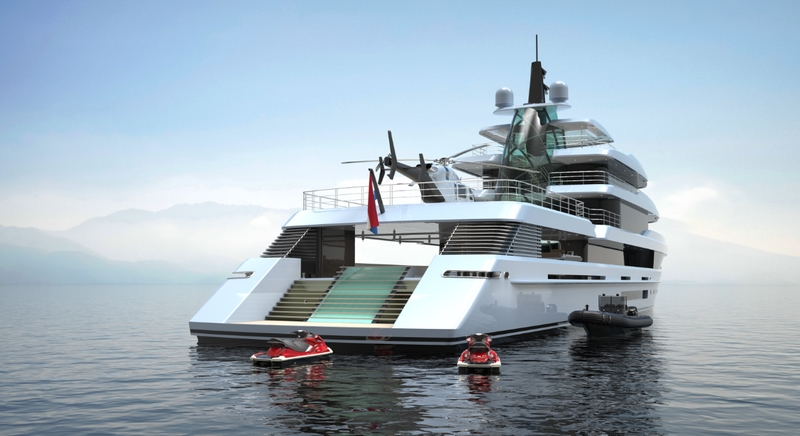 Project Crystal yacht ext