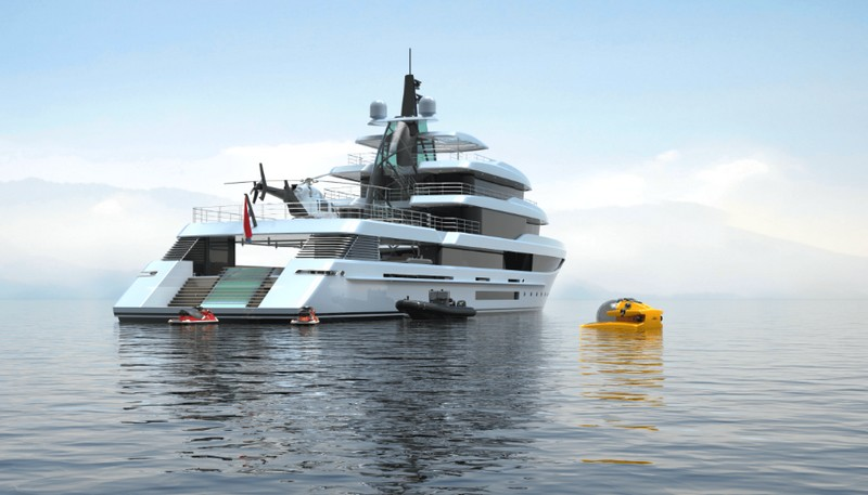 Project Crystal yacht exterior