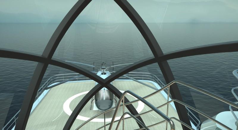 Project Crystal yacht - helipad