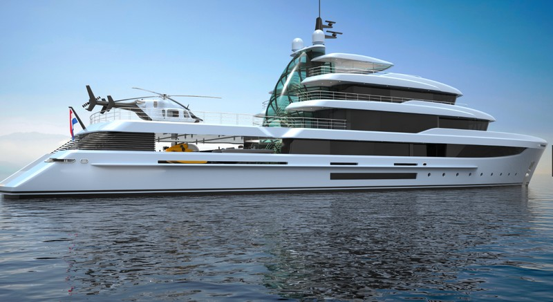 Project Crystal yachtlateral