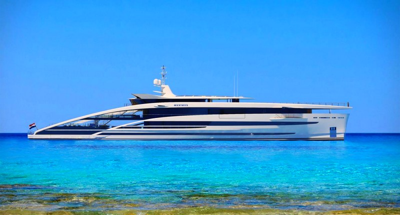 Project Maximus Heesen revealed the concept for thir largest yacht to date-