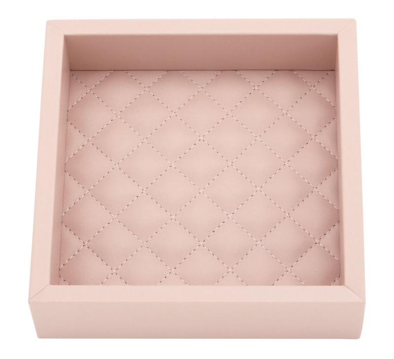 Pure leather Riviere Quilted Tray