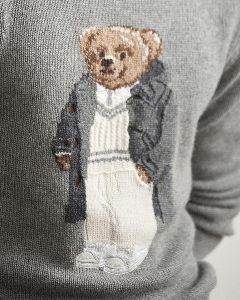 Purple Labe pre fall 2018 - ralph lauren - An intricate interpretation of the iconic Polo Bear Sweater