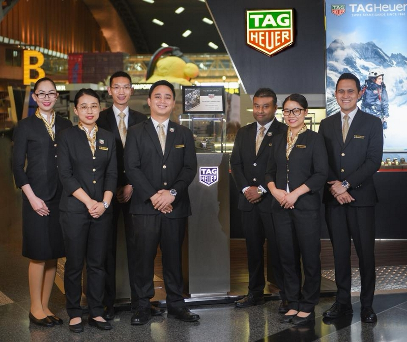Qatar Duty Free's TAG Heuer Boutique at Hamad International Airport-