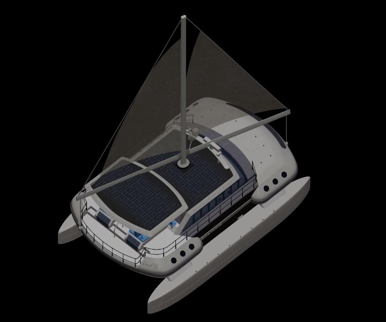 Quad Marine 44 electric catamaran - The revolutionary Aerolite sailing rig
