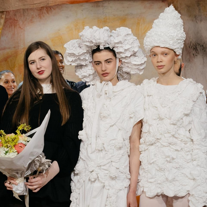 Róisín Pierce's winning looks were created in collaboration with Maison Michel