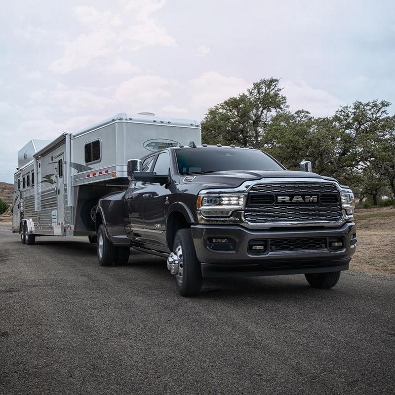 RAM trucks in action