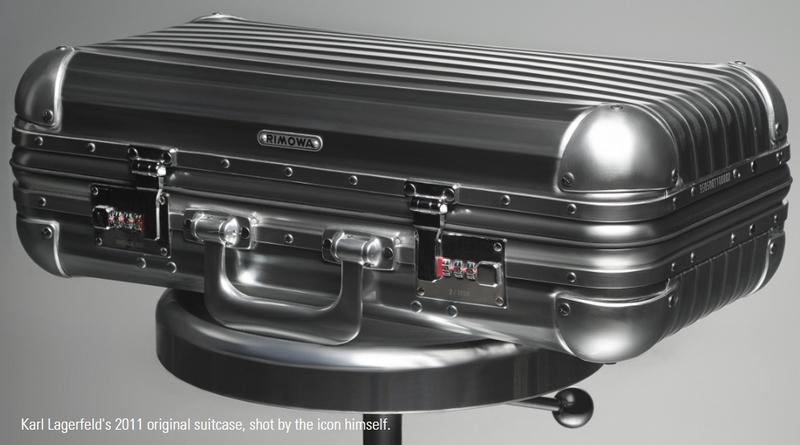 RIMOWA celebrates 80th anniversary of aluminum suitcase in 2017-Karl Lagerfeld