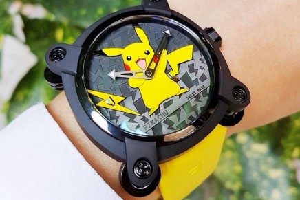 Pikachu, the hubby rodent Pokémon, is honored with its own Romain Jerome watch