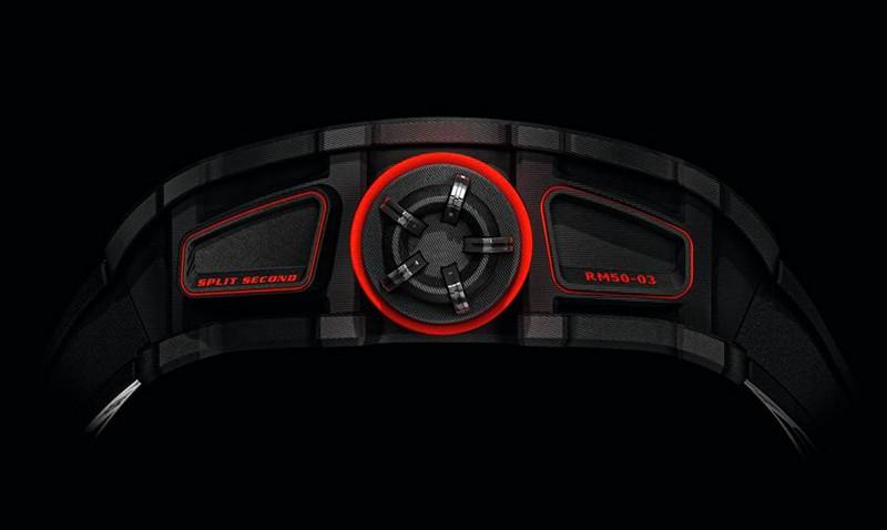 RM 50-03 Tourbillon Split Seconds Chronograph Ultra Light McLaren-lateral
