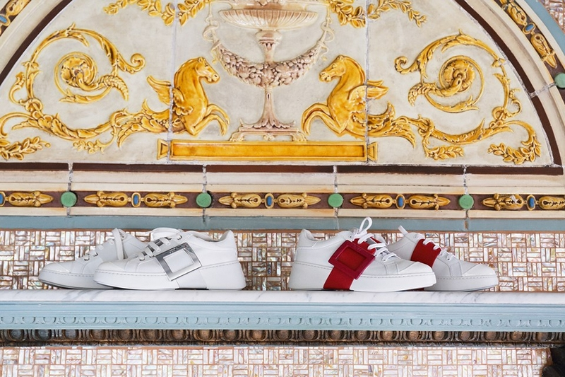 ROger Vivier - VivSkate sneakers by Gherardo Felloni featuring a graphic, tone-on-tone side buckle