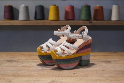Ferragamo Creations: Rainbow Future is a sustainable reinvention of the iconic Rainbow sandal