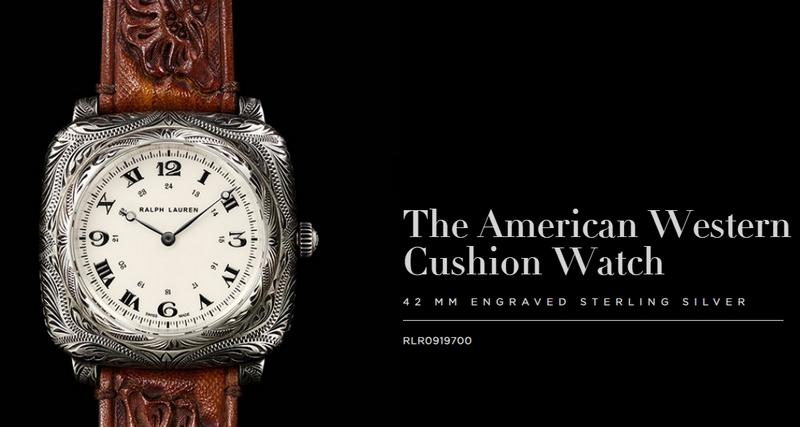 Ralph Lauren The American Western Cushion Watch