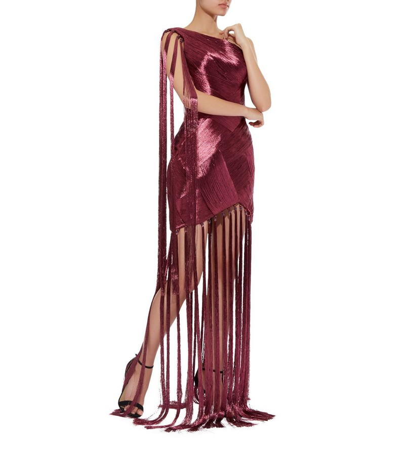 Ralph & Russo Couture Tassel Gown and Headpiece