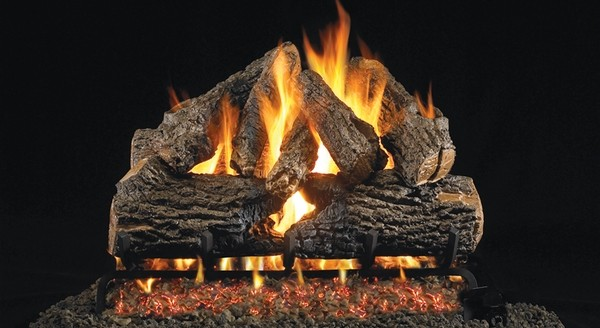 Real Fyre 24 Charred Oak Vented Natural Gas Logs