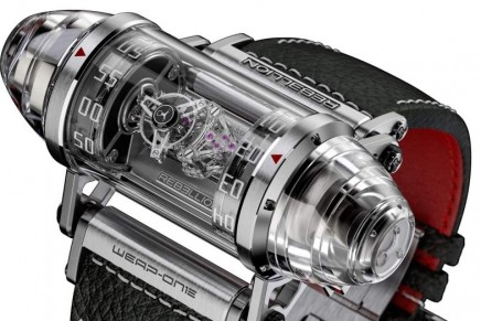 Rebellion Timepieces Weap-One Diamonds watch incorporates components made of flat atomic diamonds