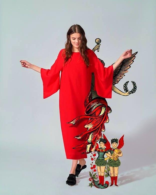 Red Kimono Dress