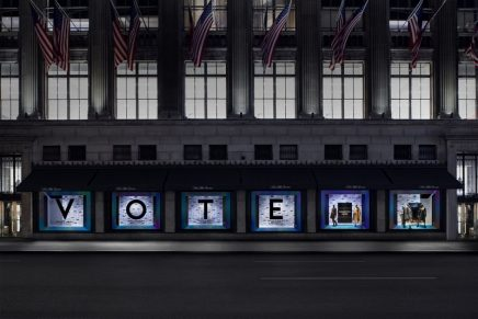 Saks Fifth Avenue is utilizing its platform to foster voter accessibility