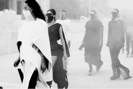 Chiffon face masks and chainmail balaclavas: an eerie end to a peculiar Paris fashion week