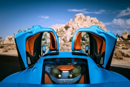 Rimac C_Two hypercar was reimagined to tally with the vibrant Californian scene
