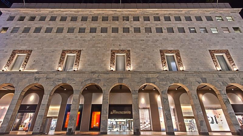Rinascente store facade