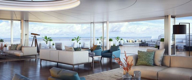 Ritz-Carlton's Custom-Built Luxury Yachts Setting Sail in 2019 - observation lounge
