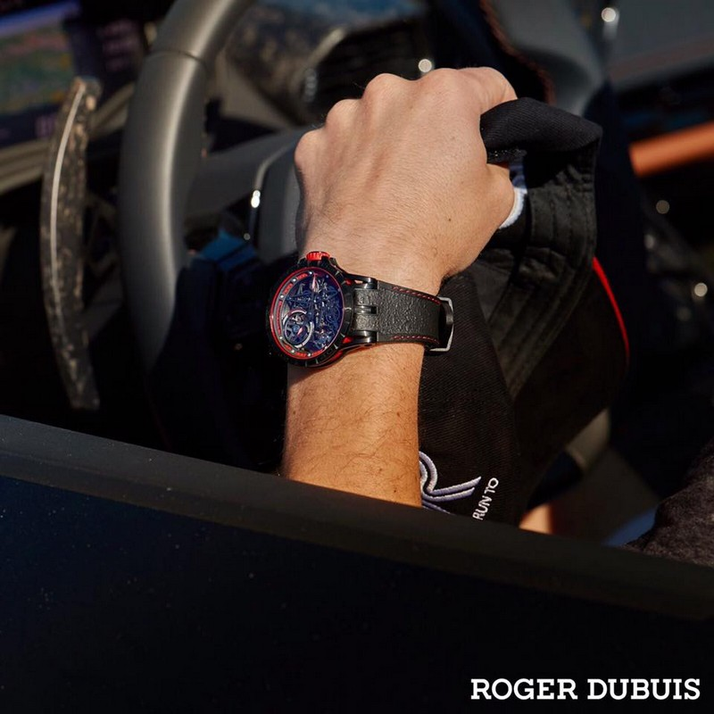 Roger Dubuis 2017 Excalibur Spider Pirelli timepieces are performed with winning motorsport rubber 2017