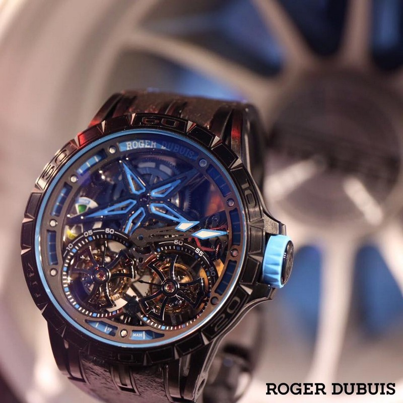 Roger Dubuis Excalibur Spider Pirelli timepieces are performed with winning motorsport rubber