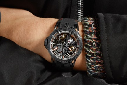 This Roger Dubuis Excalibur Aventador S timepiece is sold with an exclusive Lamborghini driving experience